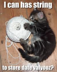 i can has string to store dates