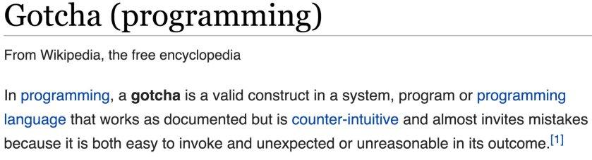 gotcha-programming-wikipedia-def