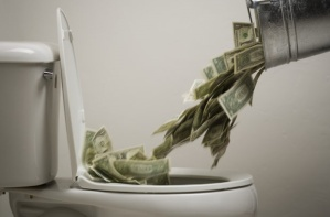 dumping-money-down-the-toilet