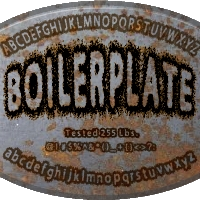 boilerplate with alphabet and stuff