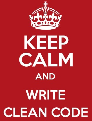 keep calm and write clean code
