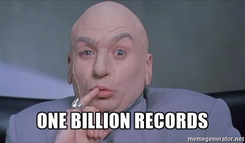 one billion records dr evil