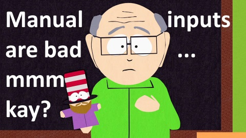 mr garrison manual inputs are bad