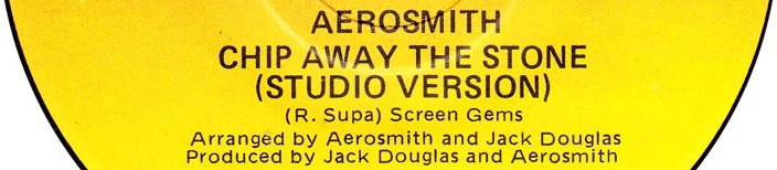 aerosmith chip away at the stone record label