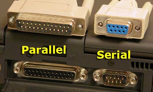 parallel vs serial ports on old computer