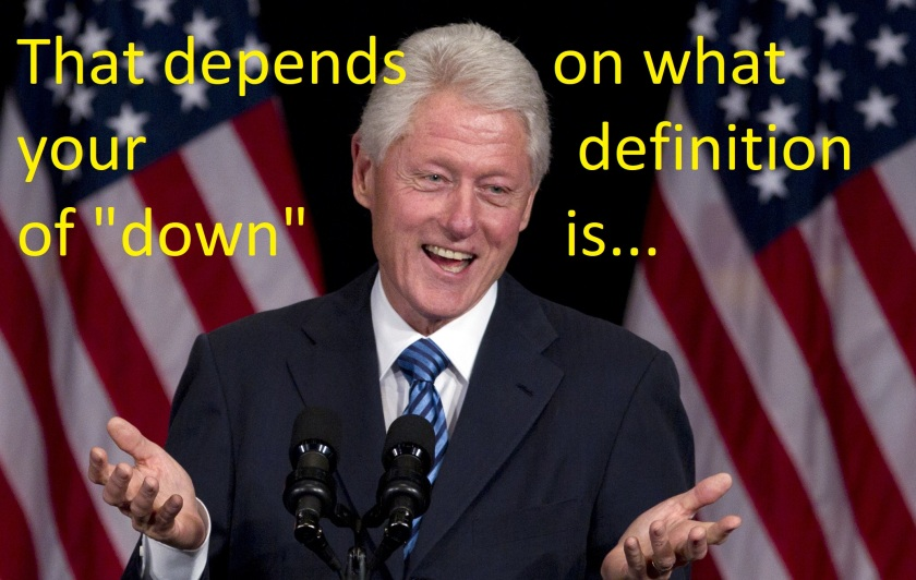 clinton-depends-on-definition-of-down