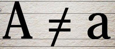 A not equal a