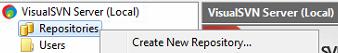 VisualSVN server repo create new