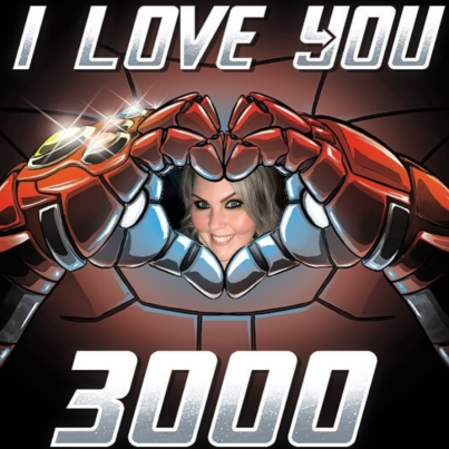 i love you 3000 with picture of wife inside
